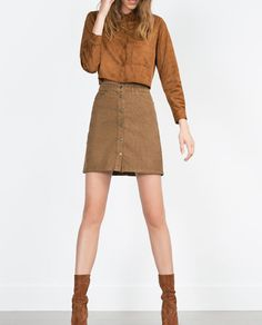 SHORT CORDUROY SKIRT // Zara - Will go great with a beige sweater