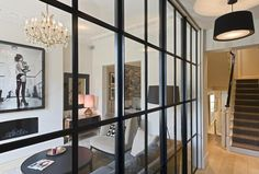 5 bedroom terraced house for sale in Chepstow Crescent, Notting Hill, - Rightmove Black Hallway, Front Hallway, Glass Room Divider, Hallway Designs, London House, Living Room Colors, Reception Rooms, Cool Walls, Luxury Living