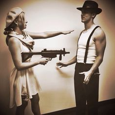 Bonnie and Clyde Halloween costume