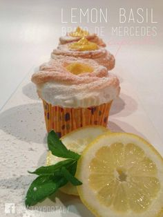 Lemon Basil Brazo de Mercedes Cupcake : Pastry Portal, Gateway to Sweetness - Pastry and Gourmet Tools and Ingredients