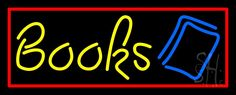 Yellow Books Neon Sign 13 Tall x 32 Wide x 3 Deep, is 100% Handcrafted with Real Glass Tube Neon Sign. !!! Made in USA !!!  Colors on the sign are Yellow, Red and Blue. Yellow Books Neon Sign is high impact, eye catching, real glass tube neon sign. This characteristic glow can attract customers like nothing else, virtually burning your identity into the minds of potential and future customers. Yellow Books Neon Sign can be left on 24 hours a day, seven days a week, 365 days a year...