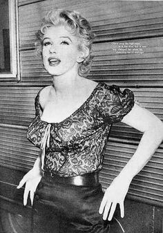 """Rare photo of Marilyn Monroe in her Cherie costume for the movie """"Bus Stop."""""""