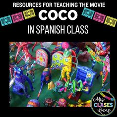 Movie Guide: Coco - for Spanish class (English. by Mis Clases Locas Spanish Songs, Spanish Phrases, Spanish English, Spanish Games, Spanish Quotes, Learn Spanish Online, How To Speak Spanish, Spanish Lesson Plans, Spanish Lessons
