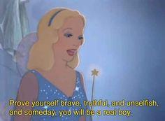 18 Movie Quotes Inspirational Life Lessons - Next Memes Old Disney, Disney Love, Disney Magic, Disney Pixar, Funny Disney, Pinocchio Disney, Disney Memes, Disney Cartoons, Disney Stuff