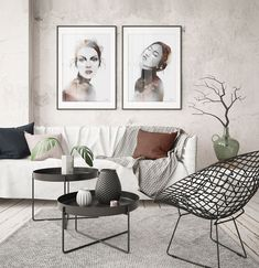 Beautiful art prints illustrated by Norwegian artist and designer Linda Skaret, available in several sizes. Living Room Interior, Scandinavian Style, Beautiful Ladies, Painting & Drawing, Gallery Wall, Art Prints, Illustration, Modern, Artist