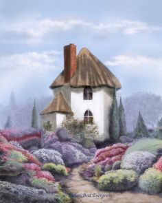 Swallow's Nest Cottage...Art Print Of My by AgelessAndEvergreen, $30.00