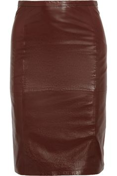 Sara Berman Leather pencil skirt - 0% Off Now at THE OUTNET