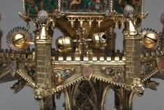 Detail of the bells on the 14th-century French or Burgundian Table Fountain, now in the Cleveland Museum of Art