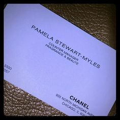 My CHANEL items are GUARANTEED AUTHENTIC I purchased almost every CHANEL item I own from the boutique on Michigan Ave in Chicago. This is the business card of the lady who helped me with most of my purchases. CHANEL Accessories
