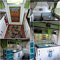 Pop Up Camper Hacks And Remodel 44 New Cushions And Painting The Cabinets (8)