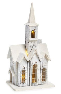 Free shipping and returns on FANTASTIC CRAFT Church Birdhouse at Nordstrom.com. Snow-dusted rooftops and warm, glowing lights add to the festive charm of a decorative birdhouse crafted from artfully distressed wood.