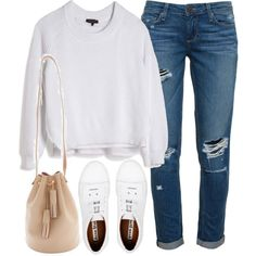 Untitled #3415 by london-wanderlust on Polyvore featuring rag & bone, Paige Denim, Acne Studios and Building Block