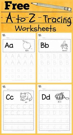 free alphabet tracing worksheets for letter a to z suitable for preschool, pre-k or kindergarten class. There are two layouts available, tracing with lines or free form tracing with boxes. Visit us at for more preschool related activities. Pre K Worksheets, Alphabet Tracing Worksheets, Abc Tracing, Tracing Sheets, Free Alphabet Tracing Printables, Tracing Letters, Printable Shapes, Free Printable Handwriting Worksheets, Toddler Worksheets