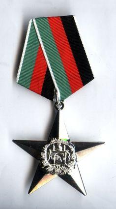 RARE orignal Afghanistan award  STAR ORDER  Silver Cl.  medal  ( post-Soviet )