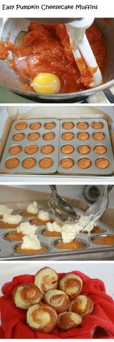 Easy Pumpkin Cheesecake Muffins - DIY Ideas 4 Home