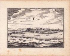 Gravure-XVIIe-Tours-Indre-et-Loire-Christophe-Tassin-1634