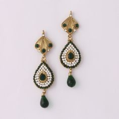 Green Diamond Graceful Earring By Variation