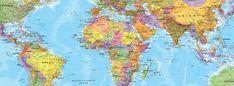 Political World Map Wallpaper Mural Globe Wallpaper, World Map Wallpaper, Wall Wallpaper, Free Printable World Map, World Map Mural, Detailed World Map, Feature Wall Design, Country Maps, Map Design