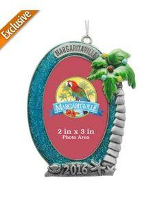 Margaritaville 2'' x 3'' Palm Tree Frame Ornament