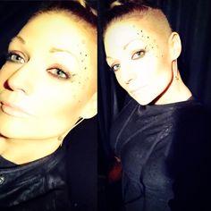 Dani Anaïse  Shaved sides  Halloween make up.