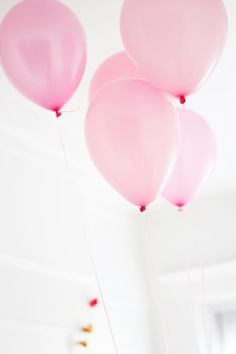 Pretty pink balloons.