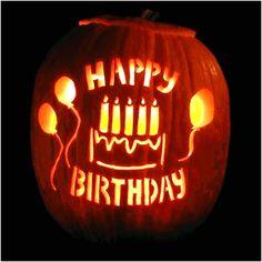 birthday party pumpkin