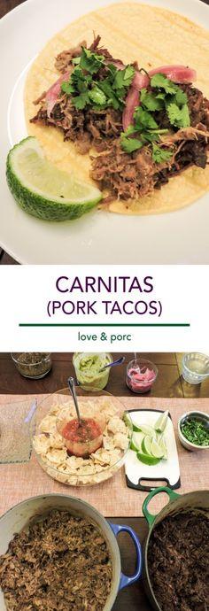 Carnitas - Love & Porc #pork #tacos #mexican #fiesta