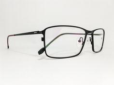 Óculos Grande Armação Metal Masculino Tamanho 58 Preto