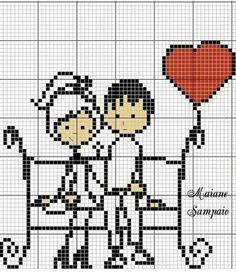 Small Cross Stitch, Cross Stitch For Kids, Cross Stitch Heart, Simple Embroidery, Cross Stitch Embroidery, Pixel Art, Cross Stitch Bookmarks, Needlepoint Designs, Modern Cross Stitch Patterns