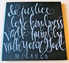 12x12 canvas, micah 6:8