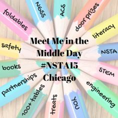 "Middle School Science Teachers attending the #NSTA15 National Conference on Science Education in Chicago, please join us for Meet Me in the Middle Day on Friday, March 13 from 10:00 am-4:00 p.m. This ""conference within a conference"" is brought to you by the National Middle Level Science Teachers Association and the NSTA Committee on Middle Level Science Teaching who have partnered up to bring you a day full of fun and learning. Learn more at https://nmlsta.wordpress.com/"