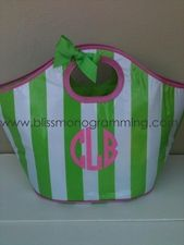 Monogrammed Insulated Cooler Tote