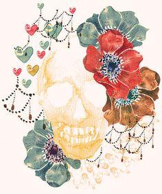caveiraaqua #illustration #watercolor