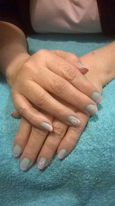 Ombre light blue and pink