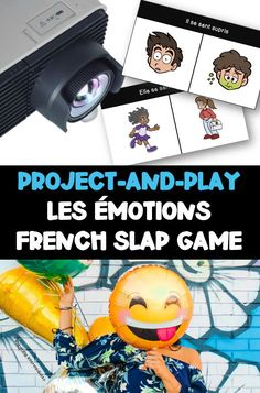Les émotions enfant activité! This French vocabulary slap game is a great way to reinforce vocabulary words for emotions! Just project on a whiteboard or blank wall and you're ready to play! A great no-prep game for maternelle (kindergarten) all the way up to middle school!