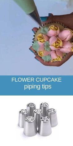 Cake Decorating Piping, Creative Cake Decorating, Creative Food Art, Cake Decorating Techniques, Cake Decorating Tutorials, Creative Cakes, Flower Cupcakes, Wedding Cupcakes, Birthday Cupcakes