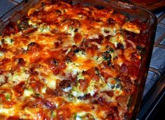 No-pasta lasagna. Full of veggies, meat, tomato sauce