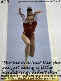 gymnastics | Tumblr Amazing determination! Sports bring out the best in people!