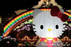 Sanrio Puroland by night