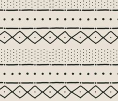 sheets: Mudcloth_ii_small_in_black_on_bone_shop_preview