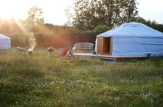 Glamping holidays at this fantastic yurt retreat nestled on a working dairy farm in the Quantock Hills, an area of outstanding natural beauty in Somerset.