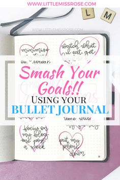 Smash your goals using these techniques in your bullet journal. Set yourself some resolutions in your bullet journal and stick to them! Making A Bullet Journal, Bullet Journal Contents, Bullet Journal For Beginners, Bullet Journal Printables, Bullet Journal How To Start A, Bullet Journal Junkies, Bullet Journal Layout, Bullet Journal Inspiration, Bullet Journals
