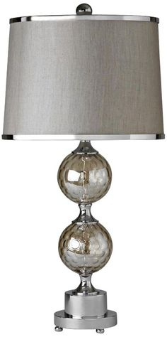 Chrome with Glass 30-Inch-H Raschella Table Lamp -