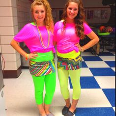 80's party costumes!