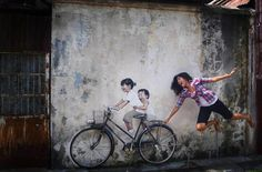 This Interactive Street Art in Malaysia is Brilliant