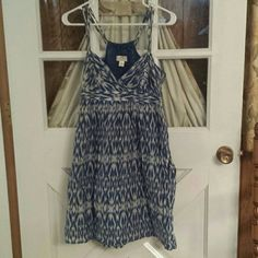 Cute halter back summer dress with pockets Gently worn one of my favorites Ann Taylor Dresses Mini