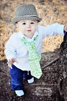 Little Guy SPRING Necktie Tie  Blue Green by petitepeanut on Etsy, $14.00