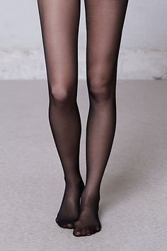 Sheer black tights. Staple.