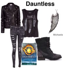 My first book edit. I think I might make more. Divergent dauntless outfit