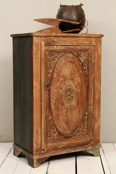 Reclaimed Antique Indian Cabinet Hand by hammerandhandimports